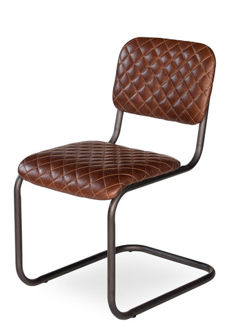 Rodeo Drive Dining Side Chair, Brown Leather