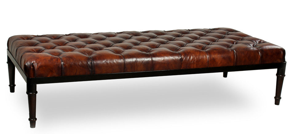 Groupage Leather Bench