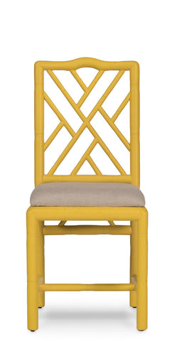 Brighton Bamboo Side Chair, Yellow