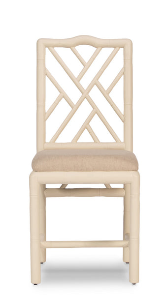 Brighton Bamboo Side Chair, Off White