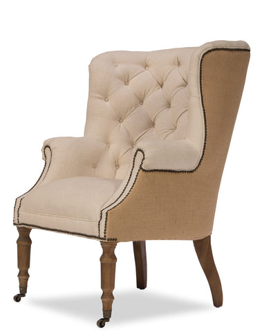 Welsh Linen And Jute Chair