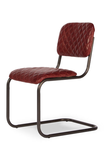 Rodeo Drive Dining Side Chair, Red Leather