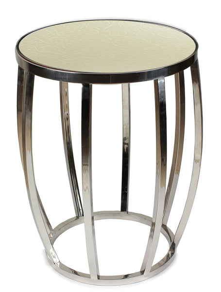 Drum Pearl End Table