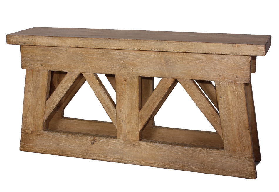 Rustic Bridge Console Table