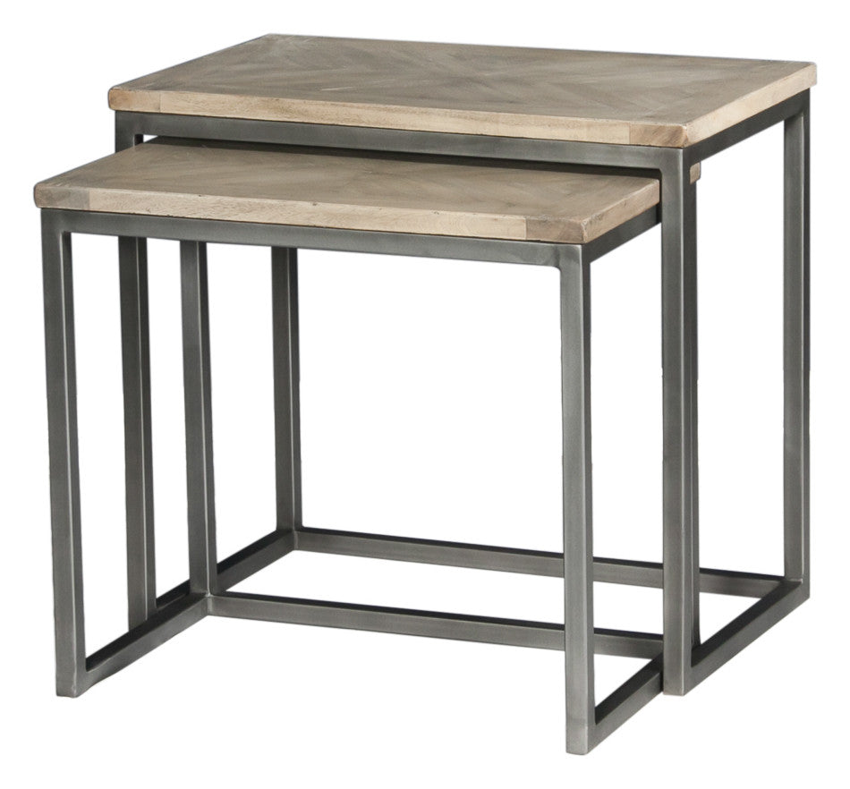 Overall Nesting Side Tables, Set Of 2