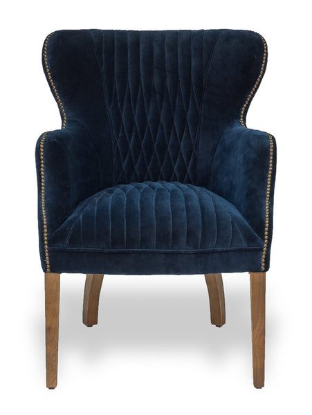 Disel Single Chair, Blue Velvet