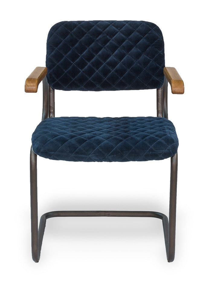 Rodeo Drive Dining Arm Chair, Blue Velvet