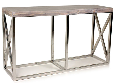 Sutton Place Stainless Steel Console