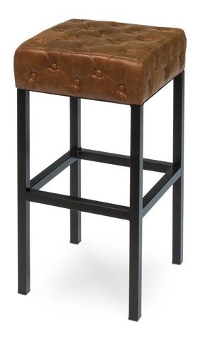 Douglas & David Bar Stool, Dark Brown