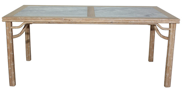 Classic Chinese Dining Table, Reclaimed Elm, Natural