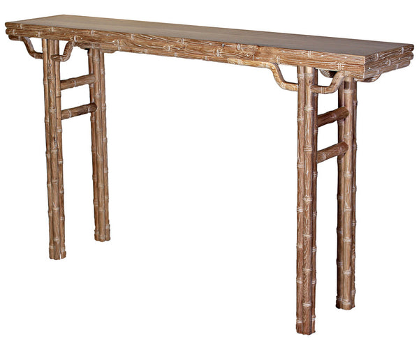 Classic Chinese Console Table, Reclaimed Elm, Bleached
