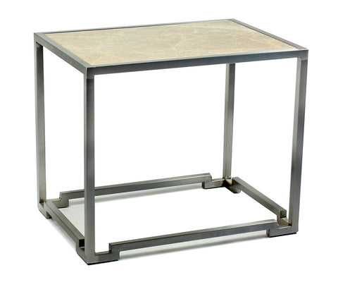 Geometric Base End Table