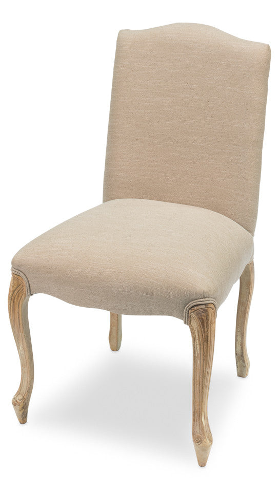 Vendome Uphol Chair,Antq.Oak,Wht Lead