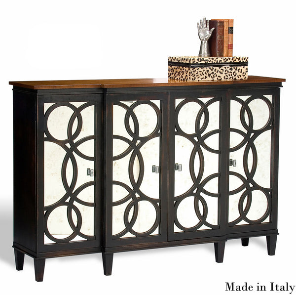 Gabriella Credenza,Black,Craftsman Brown