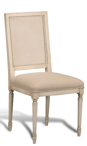 Cane Back Chair, White