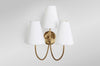Jamie Sconce Silver White