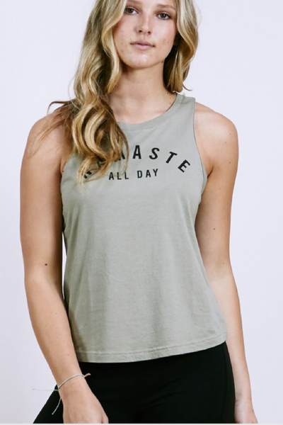 All Day Yoga Tank | Olive | Yogi Peace Club