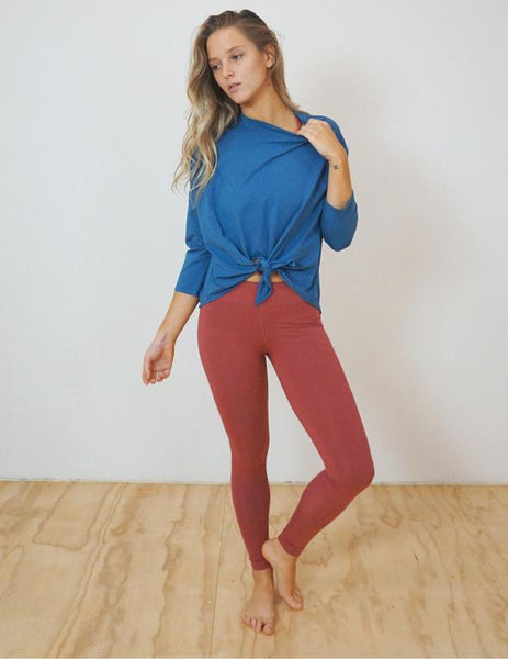 Azure Bamboo Tie Up Top | Yogi Peace Club