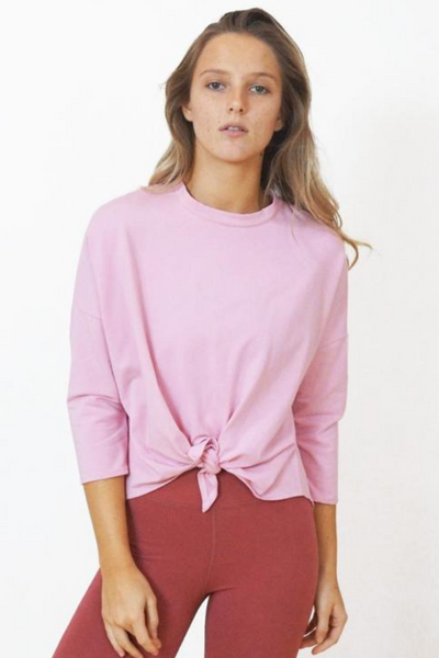 Blush Bamboo Tie Up Top | Yogi Peace Club