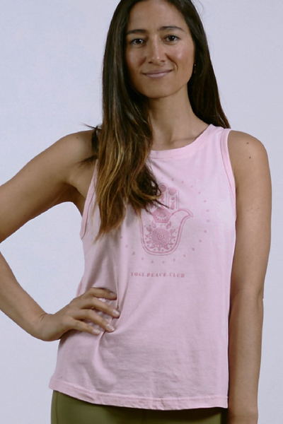 Hamsa Tank | Dusty Pink | Yogi Peace Club