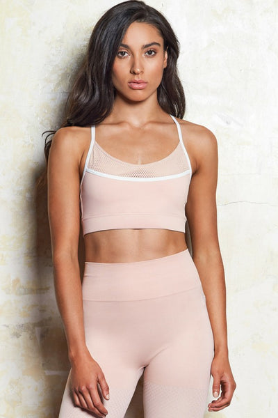 Evelina Luxe Crop | Dusty Rose | M-Active