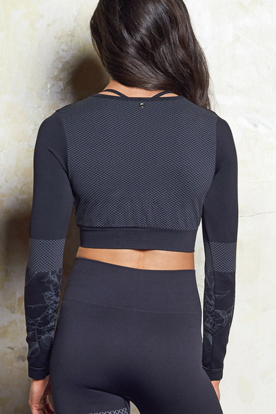 Mila Seamless Top | Black | M-Active