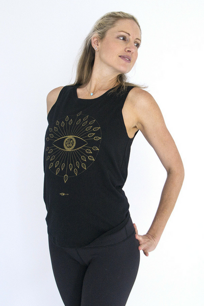 Open Your Eye | Tank Top Black | Wild Yogi