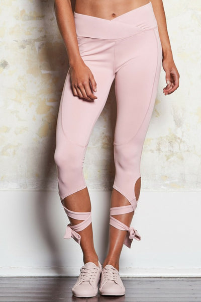 Fleur Yoga Tie Tight | Dusty Rose | M-Active