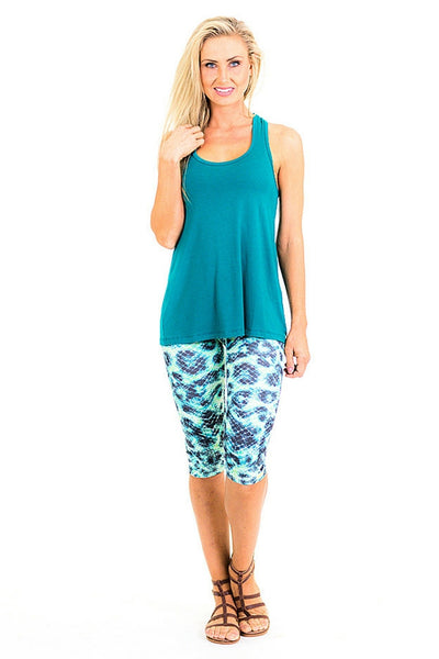 Mermaid 3/4 Leggings