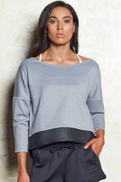 Em Luxe Sweat | Grey Marle | M-Active