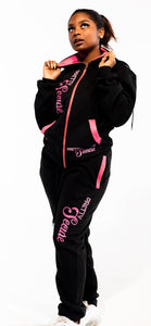 Black Pretty Secure Jogger Set - Secure Cultures