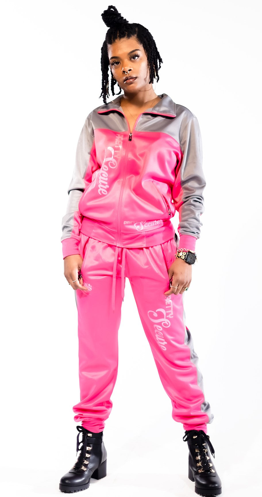 Pretty Secure Pink/Gray Windbreaker Set - Secure Cultures