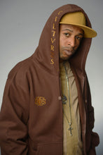 Load image into Gallery viewer, Brown Zip Hoodie - Secure Cultures