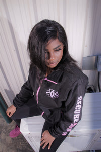 Black and Pink Fleece Coat - Secure Cultures