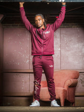 Load image into Gallery viewer, Aviation Windbreaker Burgundy - Secure Cultures