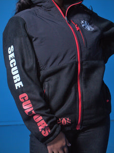 Black and Red Fleece Coat - Secure Cultures