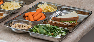 Stainless Steel Kids Trays