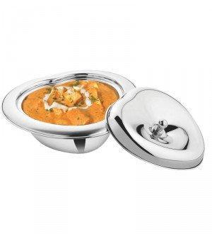 Stainless Steel Heart shaped 22Oz Serving Bowl With Lid