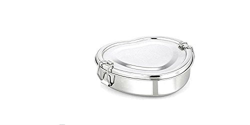 Qualways Stainless Steel Heart Shaped Lunch box - QUALWAYS LLC