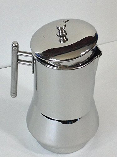 Qualways Stainless Steel Pitcher Or Jug With Lid And With Handle- Model 2
