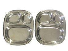 Kids's Tray - Divided Stainless Steel Tray Set of 4 - QUALWAYS LLC
