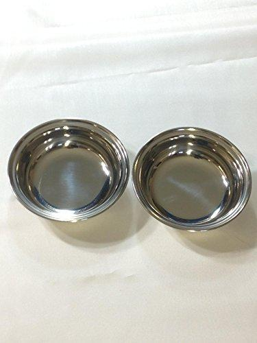 Stainless Steel Toddler Bowls Set Of  2 (Medium)