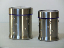 Stainless Steel 24 Oz and 16 Oz Ripple Canister Set of 2 - QUALWAYS LLC