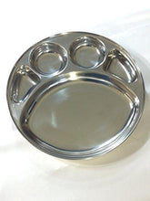Stainless Steel Divided Round Shaped 5 Slot Tray - QUALWAYS LLC