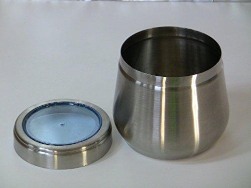 Stainless Steel Large Belly Tin, 2 LB Canister