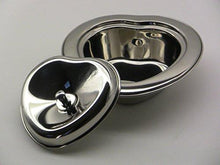 Stainless Steel Heart Shaped Butter Dish With Lid - QUALWAYS LLC