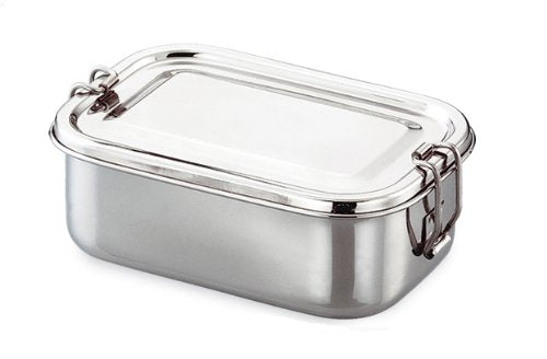 Qualways Stainless Steel Food Container with Tray, Stainless Steel Kids and adult lunch box, Children's lunch box, Stainless Steel Bento Box with Tray - QUALWAYS LLC