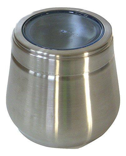 Stainless Steel Large Belly Tin, 2 LB Canister - QUALWAYS LLC