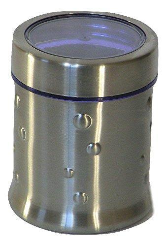 Stainless Steel 32 Oz Large Ripple Canister - QUALWAYS LLC
