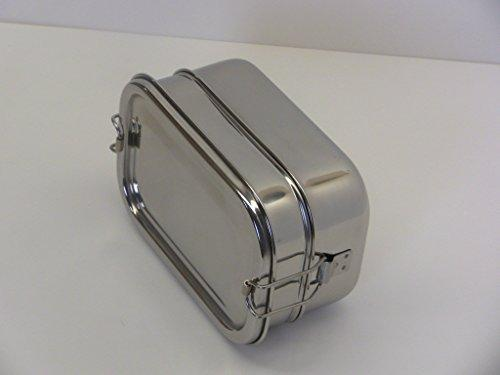 Stainless Steel 2- Tier Rectangle Lunch Box